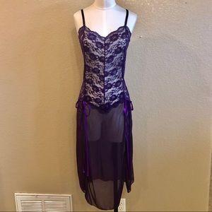 Other - NWOT Dark purple lace babydoll chemise
